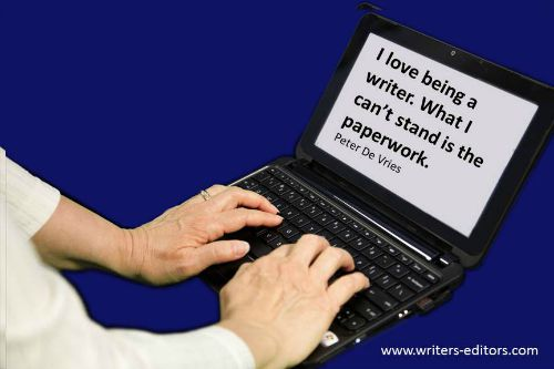 Writers Editors Network hate the paperwork